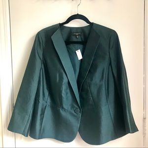 NWT Talbots Green Blazer Size 12W
